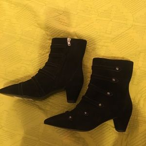 Coach heeled booties
